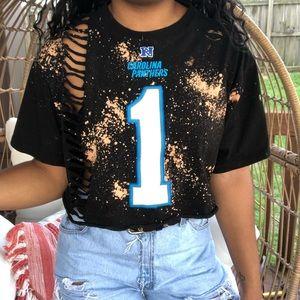 NFL Carolina Panthers Cam Newton Custom Crop Top